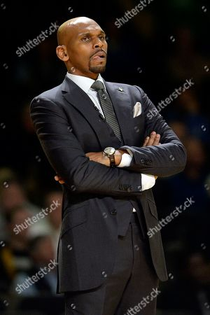 NAMES. Vanderbilt head coach Jerry Stackhouse watches the action from the bench during the first half of an NCAA college basketball game against Kentucky, in Nashville, Tenn