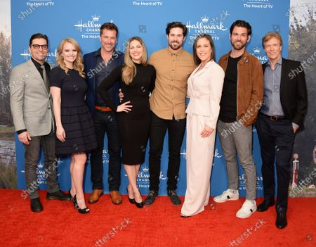 Stock Photo of Kavan Smith, Andrea Brooks, Paul Greene, Pascale Hutton, Chris McNally, Erin Krakow, Kevin McGarry and Jack Wagner