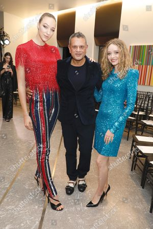 Stock Picture of Ava Michelle, Naeem Khan and Madeleine Arthur