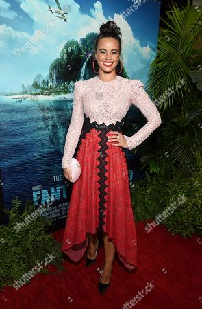Parisa Fitz-Henley at the Los Angeles premiere of Columbia Pictures BLUMHOUSE'S FANTASY ISLAND
