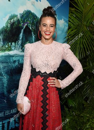 Parisa Fitz-Henley at the Los Angeles premiere of Columbia Pictures' BLUMHOUSE'S FANTASY ISLAND.