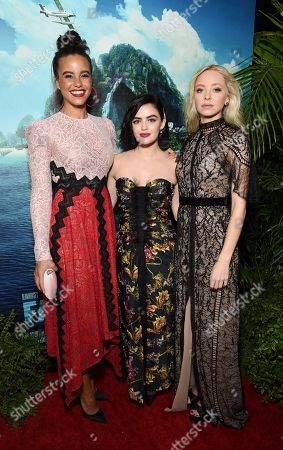 Parisa Fitz-Henley, Lucy Hale and Portia Doubleday at the Los Angeles premiere of Columbia Pictures BLUMHOUSE'S FANTASY ISLAND