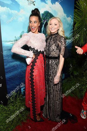 Parisa Fitz-Henley and Portia Doubleday at the Los Angeles premiere of Columbia Pictures BLUMHOUSE'S FANTASY ISLAND