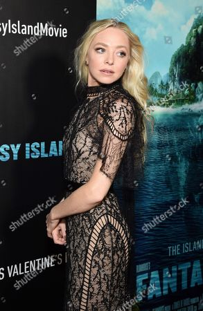 Portia Doubleday at the Los Angeles premiere of Columbia Pictures BLUMHOUSE'S FANTASY ISLAND