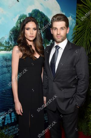 Stock Photo of Courtney Vogel and Mike Vogel at the Los Angeles premiere of Columbia Pictures BLUMHOUSE'S FANTASY ISLAND