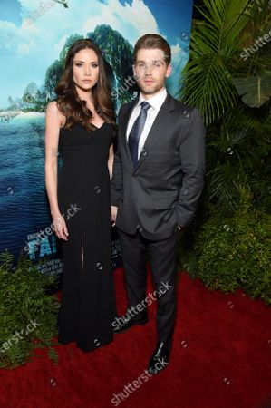 Stock Picture of Courtney Vogel and Mike Vogel at the Los Angeles premiere of Columbia Pictures BLUMHOUSE'S FANTASY ISLAND