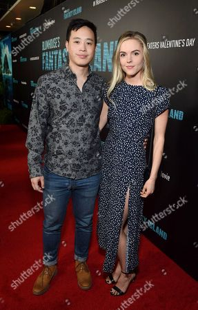 Stock Picture of Hayden Szeto and Kari Perdue at the Los Angeles premiere of Columbia Pictures BLUMHOUSE'S FANTASY ISLAND