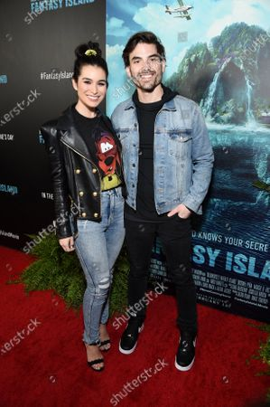 Ashley Iaconetti and Jared Haibon at the Los Angeles premiere of Columbia Pictures BLUMHOUSE'S FANTASY ISLAND