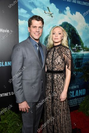 Jeff Wadlow, Director/Writer/Producer, and Portia Doubleday at the Los Angeles premiere of Columbia Pictures BLUMHOUSE'S FANTASY ISLAND