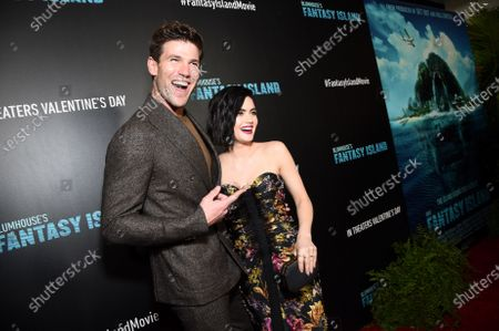 Austin Stowell and Lucy Hale at the Los Angeles premiere of Columbia Pictures BLUMHOUSE'S FANTASY ISLAND