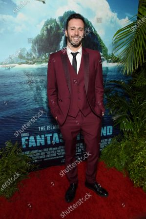 Christopher Roach, Writer, at the Los Angeles premiere of Columbia Pictures' BLUMHOUSE'S FANTASY ISLAND.