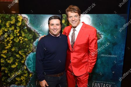 Josh Greenstein, President, Sony Pictures Motion Picture Group, and Jason Blum, CEO of Blumhouse Productions, at the Los Angeles premiere of Columbia Pictures BLUMHOUSE'S FANTASY ISLAND