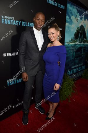 Robbie Jones and Sandi Tucker at the Los Angeles premiere of Columbia Pictures BLUMHOUSE'S FANTASY ISLAND