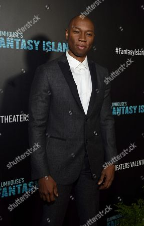 Robbie Jones at the Los Angeles premiere of Columbia Pictures BLUMHOUSE'S FANTASY ISLAND