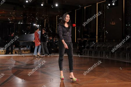 Stock Photo of Anh Duong walks in the rehearsal of NYFW Fall/Winter 2020 - Prabal Gurung at The Rainbow Room, in New York