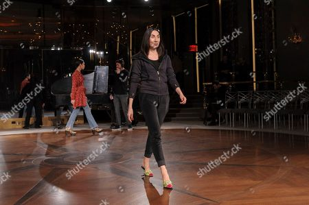 Anh Duong walks in the rehearsal of NYFW Fall/Winter 2020 - Prabal Gurung at The Rainbow Room, in New York