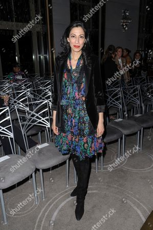 Huma Abedin attends NYFW Fall/Winter 2020 - Prabal Gurung at The Rainbow Room, in New York