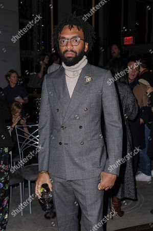 Kerby Jean-Raymond attends NYFW Fall/Winter 2020 - Prabal Gurung at The Rainbow Room, in New York