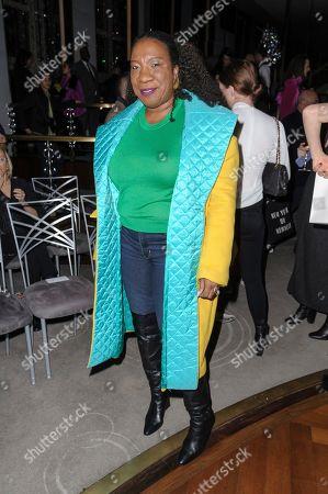 Tarana Burke attends NYFW Fall/Winter 2020 - Prabal Gurung at The Rainbow Room, in New York