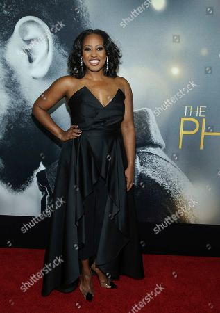"Stock Picture of Shannon Baker Davis attends the world premiere of ""The Photograph"" at the SVA Theatre, in New York"