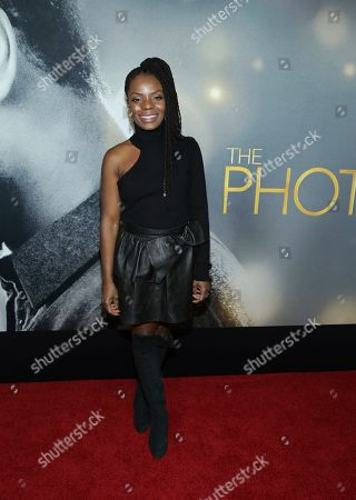 """Marsha Stephanie Blake attends the world premiere of """"The Photograph"""" at the SVA Theatre, in New York"""