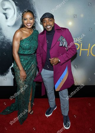 """Stock Picture of Chant' Adams, Will Packer. Actress Chanté Adams and producer Will Packer attend the world premiere of """"The Photograph"""" at the SVA Theatre, in New York"""