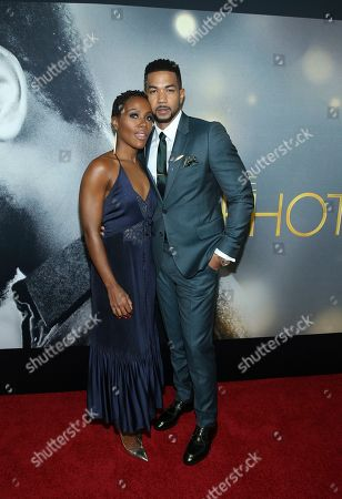 "Stock Picture of DeWanda Wise, Alano Miller. Actors DeWanda Wise and Alano Miller attend the world premiere of ""The Photograph"" at the SVA Theatre, in New York"