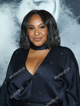 """Stock Photo of Stella Meghie attends the world premiere of """"The Photograph"""" at the SVA Theatre, in New York"""