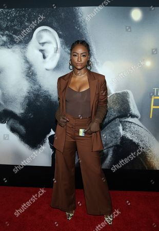 """Justine Skye attends the world premiere of """"The Photograph"""" at the SVA Theatre, in New York"""