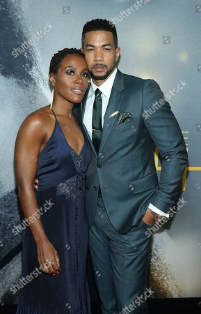 "DeWanda Wise, Alano Miller. Actors DeWanda Wise and Alano Miller attend the world premiere of ""The Photograph"" at the SVA Theatre, in New York"