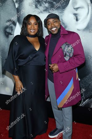"""Stella Meghie, Will Packer. Director Stella Meghie and producer Will Packer attend the world premiere of """"The Photograph"""" at the SVA Theatre, in New York"""