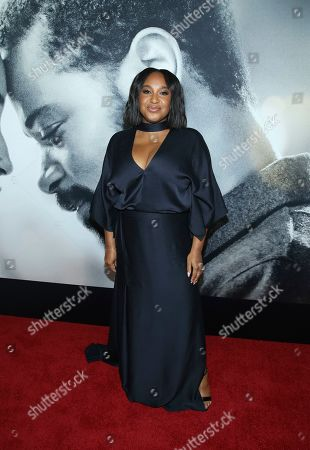 """Stella Meghie attends the world premiere of """"The Photograph"""" at the SVA Theatre, in New York"""