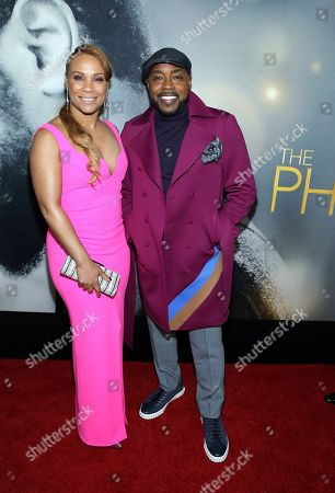 """Heather Hayslett, Will Packer. Producer Will Packer right, and Heather Hayslett attend the world premiere of """"The Photograph"""" at the SVA Theatre, in New York"""