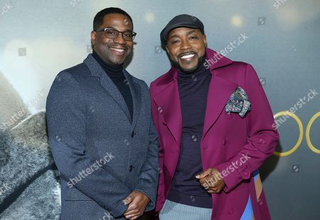 """James Lopez, Will Packer. Producers James Lopez and Will Packer attend the world premiere of """"The Photograph"""" at the SVA Theatre, in New York"""