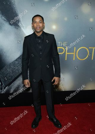 """Kelvin Harrison Jr. attends the world premiere of """"The Photograph"""" at the SVA Theatre, in New York"""