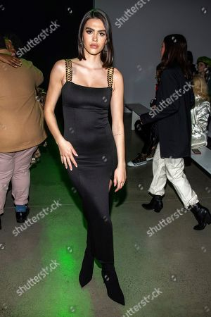 Amelia Gray Hamlin attends the Christian Cowan fashion show at Spring Studios during NYFW Fall/Winter 2020 on in New York