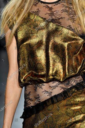 Editorial photo of Cynthia Rowley show, Detail, Fall Winter 2020, New York Fashion Week, USA - 11 Feb 2020
