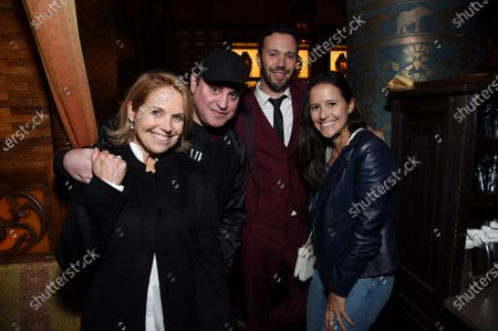 Katie Couric, Brett Gursky, Christopher Roach, Writer, and Elinor Tully Monahan at the Los Angeles premiere of Columbia Pictures' BLUMHOUSE'S FANTASY ISLAND.