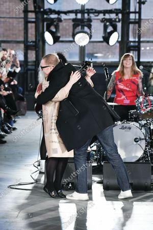 Stock Image of Deborah Harry and Stuart Vevers on the catwalk