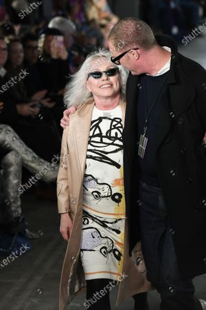Deborah Harry and Stuart Vevers on the catwalk