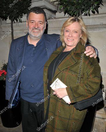 Stock Image of Steven Moffat and Sue Vertue