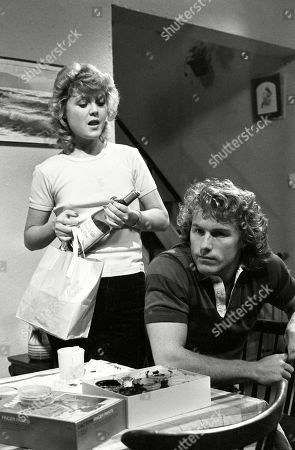Ep 2319 Wednesday 22nd June 1983  Suzie discovers that Brian is going to be on his own for the night, with Gail is staying at Audrey's. She calls on him with a bottle of wine and a takeaway. Trying to get him drunk she seduces him and offers to spend the night with him. With Brian Tilsley, as played by Christopher Quinten ; Suzie Birchall, as played by Cheryl Murray.