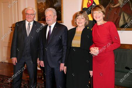Frank-Walter Steinmeier, Joachim Gauck, Elke Buedenbender and Daniela Schadt