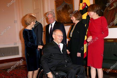 Wolfgang Schäuble, Joachim Gauck, Daniela Schadt, Frank-Walter Steinmeier and wife Elke Büdenbender