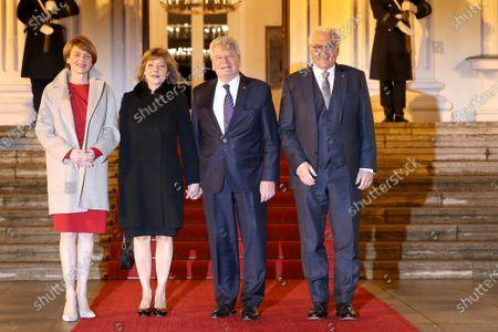 Joachim Gauck, Daniela Schadt,  Frank-Walter Steinmeier and wife Elke Büdenbender