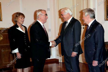 Theo Waigel  and wife Irene Epple-Waigel with Joachim Gauck Schadt and Frank-Walter Steinmeier and