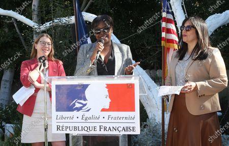 La Consule Générale interim Nathalie Soirat, Jacqueline Lyanga, Jasmine Jaisinghani