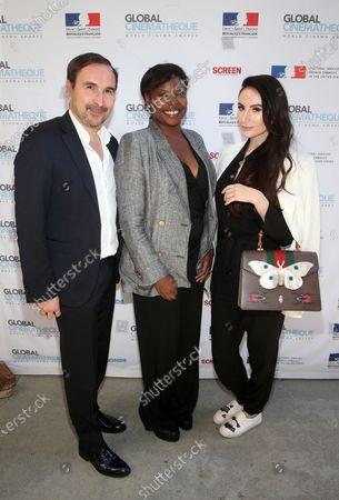 Stock Image of Patrice Courtaban, Jacqueline Lyanga, Elena Alexandra