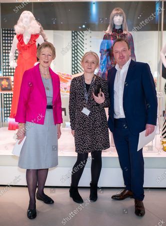 Heather Tilbury Phillips, Jenny Lister Curator of Mary Quant exhibition at V & A and Orlando Plunket Greene