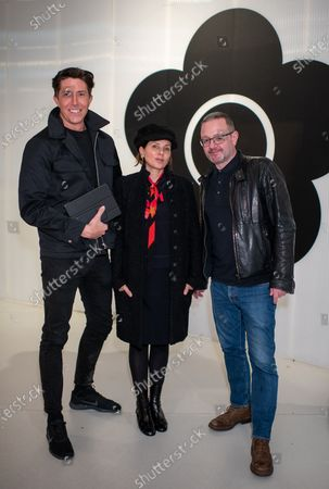 Ben Charles Edwards, Sadie Frost and James Hunt who are making a film on Mary Quant